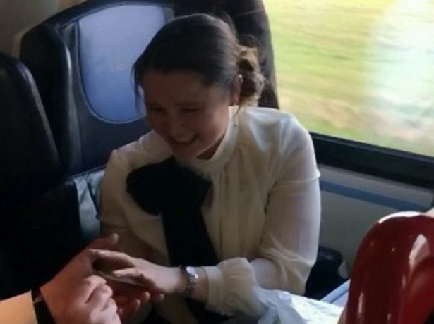 Lovestruck Railway Employee Proposes On Train In Front Of Gushing Passenger