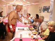 Butlers In The Buff Visit Care Home Residents To Serve A Three Course Meal