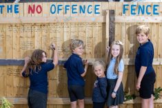 Woman Who Spots Vile Graffiti On Her Fence Turns It Into A 'No Offence Fence' – Inviting Kids To Write Positive Messages