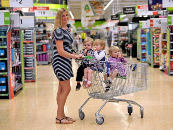 Supermarket Designs Unique Shopping Trolley For TRIPLETS After Mum-Of-Three Struggled To Do Her Shopping