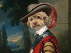 Artist Transforms Plain Pictures Of Family Pets Into Magnificent Regal PAW-TRAITS