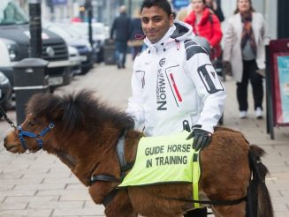 Partially-Sighted Man With Fear Of Dogs Tests Out Britain's First 'Guide HORSE'