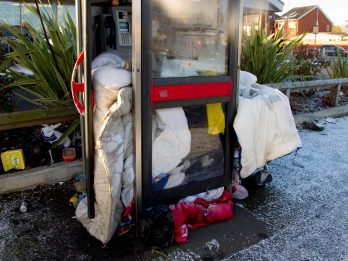 Man Who Lost His Parents And His Job In A Matter Of Months Now Lives In A PHONE BOX