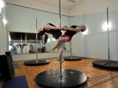 World's Only Dad And Daughter Pole Dancing Team Open Studio Together