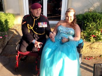 Teen Defied The Odds To Attend Her School Prom Accompanied By Britain's Most Injured Soldier