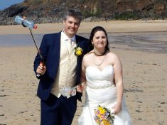 Couple Get Involved In Beach Clean On Their Wedding Day