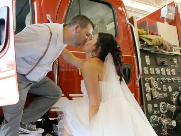 Hero Firefighter Left Own Wedding To Go And Fight A Blaze And Returned Three Hours Later - Just In Time For His First Dance