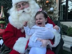 Hilarious Photos Show Kids Bursting Into Tears On Santa's Lap