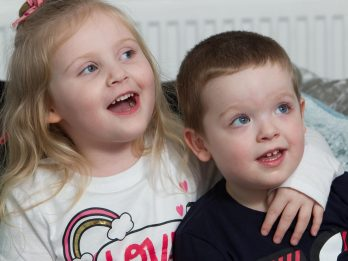 Four-Year-Old Girl Robbed Of Her Ability To Walk And Talk By A Brain Virus Is Relearning - Thanks To Baby Brother