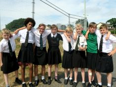 Set Of School Boys Don Skirts To Protest School's Uniform Policy Against Shorts