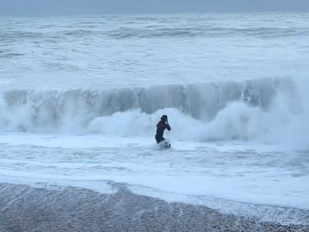 Barking Mad Woman Risked Life And Limb Diving Into Freezing Sea To Save Her Dog