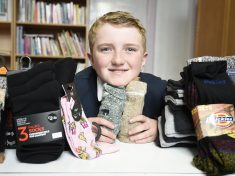 Inspirational Boy Launches Charity Project To Give Socks To Homeless