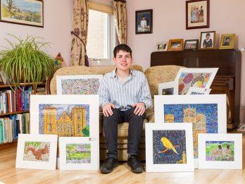 Budding Artist Showcases Huge Set Of Unique Pieces Using Thousands Of Scratchcards