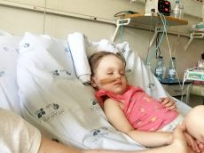 Little Girl Aged Three Fighting For Her Life In Hospital After Suffering A Stroke On Family Holiday