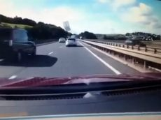 WATCH! – Terrifying Moment Door Flies Off Moving Car Into Path Of Fellow Motorists