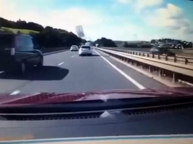 WATCH! - Terrifying Moment Door Flies Off Moving Car Into Path Of Fellow Motorists