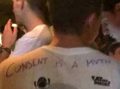 Outrage As Students Wear Vile 'Consent Is A Myth' T-Shirts On Bar Crawl