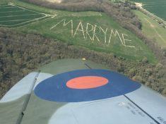 Loving Farmer Spent All Night Carving Proposal Into A Hill – With 300ft Letters