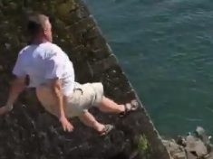 WATCH – Chilling Video Shows Tombstoning Stunt Go Horribly Wrong
