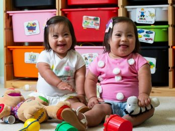 These Adorable Identical Twin Toddlers Are One-In-A-Million - Because They Have Down's Syndrome