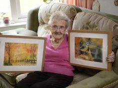 Incredible 95-Year-Old Granny Has Produced More Than 350 Stunning Drawings And Paintings – Despite Being Registered Blind