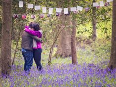 Photographer Snaps Picture Of Couple Moments After They Got Engaged In Woods