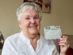 Widow Reunited With Love Letter She Sent To Her Soldier Husband 57 Years Ago – After It Was Found In His Combat Trousers At Army Surplus Store