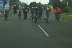 WATCH – Large Group Of Youths Swarming Busy Roads On Bikes As Part Of Dangerous New Craze