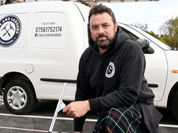 Glaswegian Becomes Westcountry Sensation By Cleaning Windows In His KILT